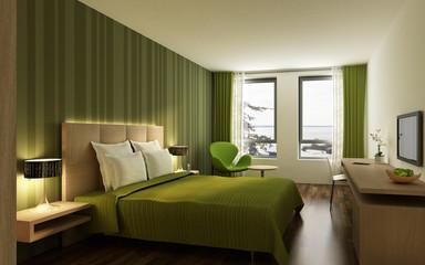 Hotelzimmer P2 grün
