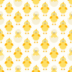 pattern with cute little chickens