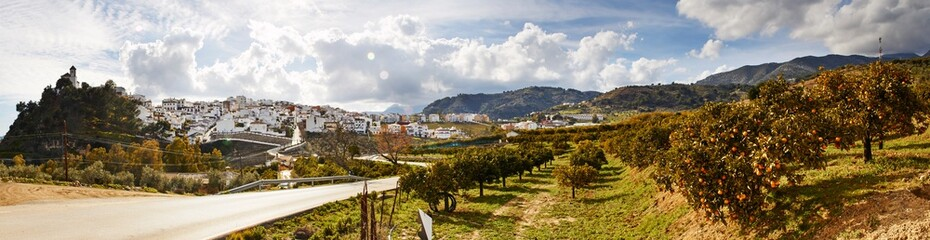 Panorama of Casarabonela, Andalusia, Spain
