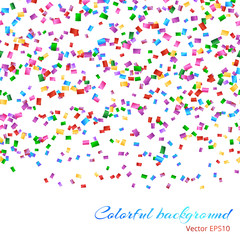 Glitter sparkle endless background with colorful confetti