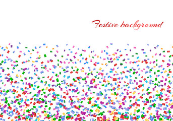 Celebration background with confetti isolated