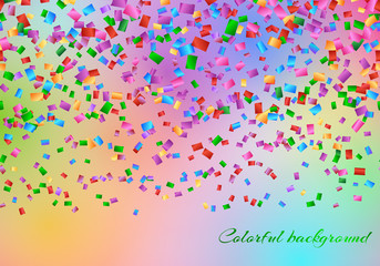 Celebration background with falling confetti