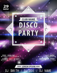Disco poster template