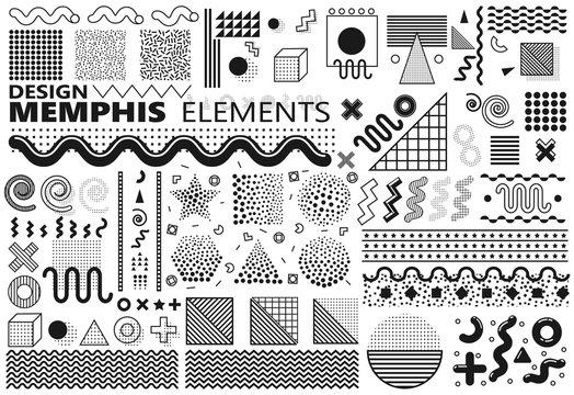 Memphis elements set