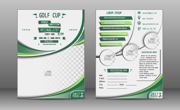 Golf cup brochure