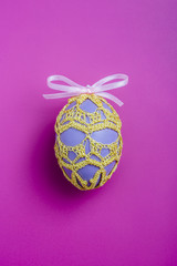 An easter egg with dress
