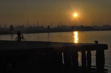 An amazing orange sundown