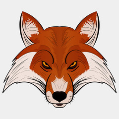 Mascot Vector Illustration fox head cartoon style