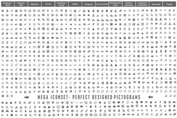 Mega Iconset Perfect Designed Pictograms grey
