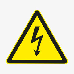 Danger sign. Vector. Isolated.