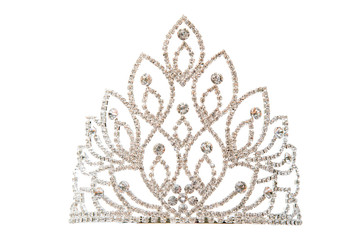 Luxury crown with diamonds, a diadem jewelry.