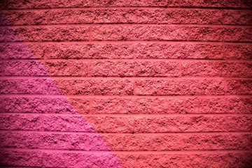 Pink, Red Brick Wall Background