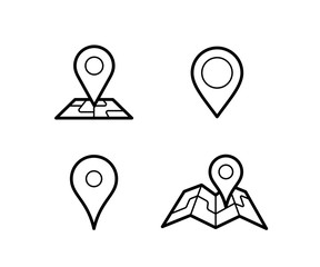 Maps and pins vector icons. Make your own custom location pin
