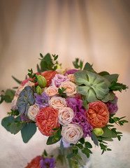 Beautiful decorative bouquet of roses flowers
