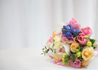 Beautiful bouquet made of different flowers