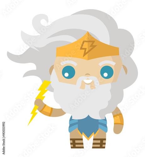 """cute zeus jupiter greek roman god of lighting"" fichier ..."