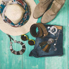 Women's summer fashion and accessories
