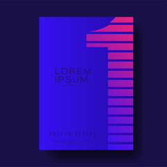 Gradient Number One Cover Design layout for banners, wallpaper, flyers, invitation, posters, brochure, voucher discount - Vector illustration template