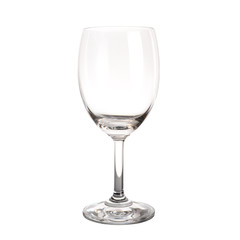 Wine glass isolated on white background.