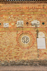 Abbey of Pomposa, medieval world famous Benedictine monastery, Codigoro, Emilia-Romagna, Italy