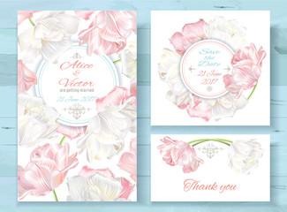 Tulip invitations set