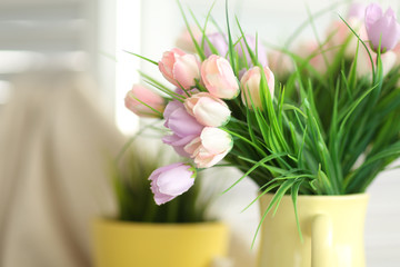 Floral easter composition