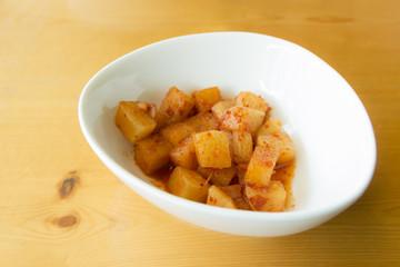 Cubed radish kimchi - korean food