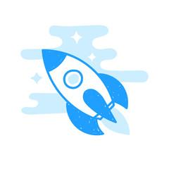Rocket hand drawn icon
