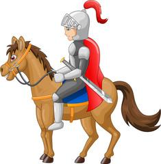 Knight horse shield sword