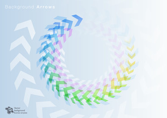 Spiral image_Arrows#Vector Background