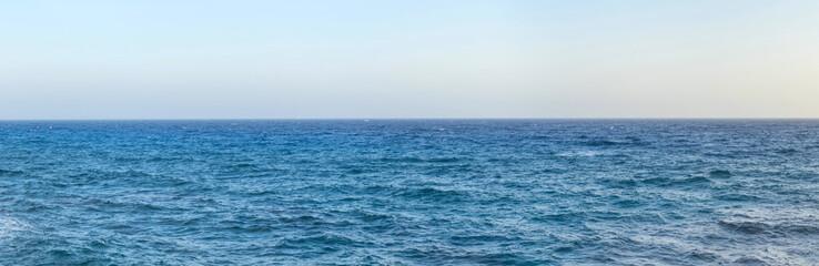 Mediterranean Sea with horizon line  Wall mural