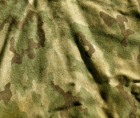 Dirty old camouflage cloth pattern.
