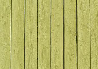 Yellow color wooden fence pattern.