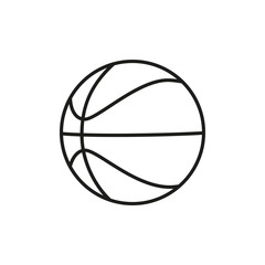 Basketball ball icon. Line basketball ball isolated on white background. Vector