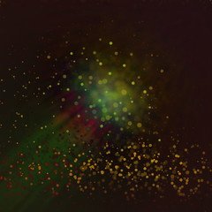 De focused glitter vintage lights background in brown red yellow