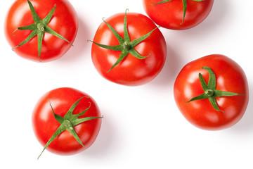Fresh Tomatoes on White