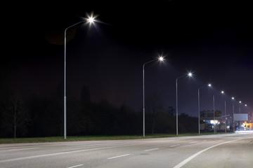 Night urban arterial road, Nitra, Slovakia