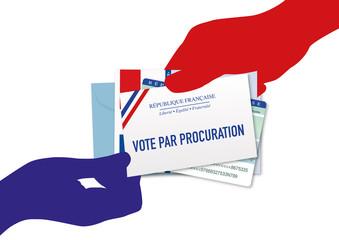 Vote par procuration - élection - voter - élection présidentielle - politique