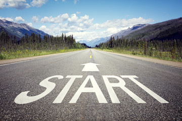 Start line on the highway