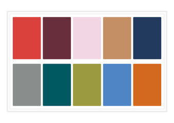 Fall Colors for 2017. Colors of the Year, Palette Fashion Colors. without Name.