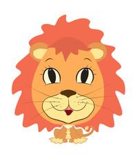 funny boy lion