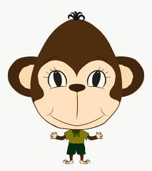 funny monkey boy