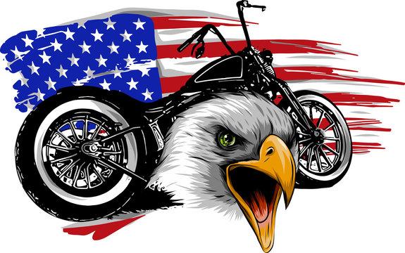 motocicletta con aquila