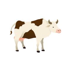 Cow farm animal vector illustration graphic design