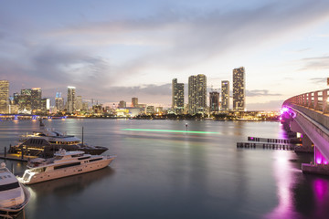 Wall Mural - Miami at night