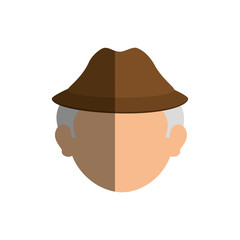 grandfather avatar character icon vector illustration design