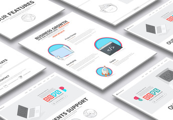 Illustrated Business and Development Website Layout 2