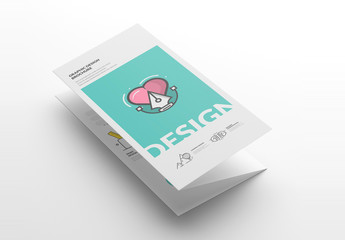 Design Brochure Layout with Illustrations