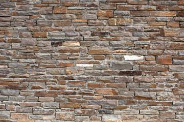 Hintergrund – Natursteinmauermit eckigen Steinen