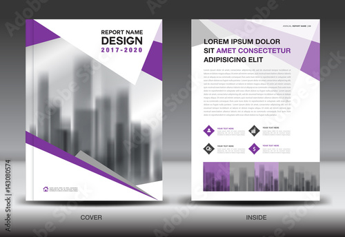 Business Book Cover Quest : Quot annual report brochure flyer template purple cover
